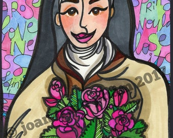 Saint Therese of Lisieux: The Little Flower in Pastel