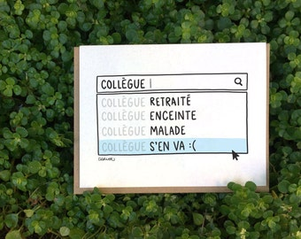 Colleague Leaving = Search for a cute card on Google! // Luckily, I've got your back! (Available in FR and EN)