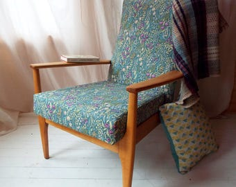 Parker Knoll 988 armchair, restored & reupholstered
