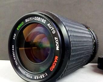 ERNO MC 70-200mm f/3.8-4.8 Auto Macro Minolta MD Zoom Lens