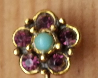 Victorian style flower stick pin - so sweet