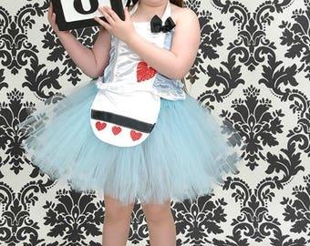 Alice in Wonderland dress, alice tutu set