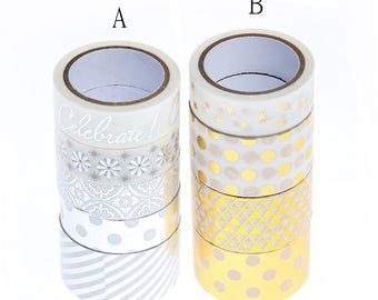 Silver, glod washi tape set
