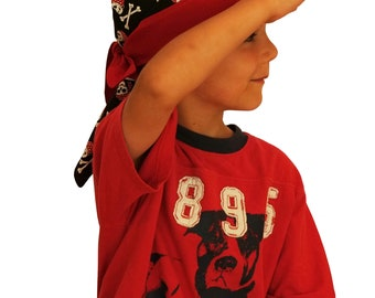 Jon's Children's Doo Rag - Pirates - A Reversible Bandana, Cancer Hat, Chemo Headwear, Alopecia Scarf, Head Cover, Hair Loss, Cancer Gift