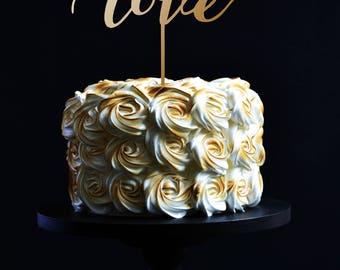 Cake topper LOVE. Wedding cake topper Love.