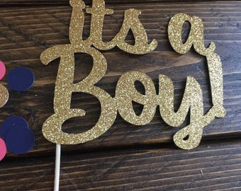 Its A Boy Cake Topper - Baby Boy Cake Topper - Baby Shower Cake Topper - Blue Cake Topper - Baby Shower - Baby Boy Shower Decor