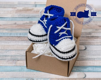 Blue Baby Sneakers, Crochet Baby Shoes, Sneakers Shoes, Handmade Baby Boots, Crib Shoes, Baby Shower Gift