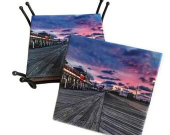 Asbury Park Boardwalk New Jersey Coaster / Jersey Shore Housewarming Gift / Asbury Park NJ Coasters
