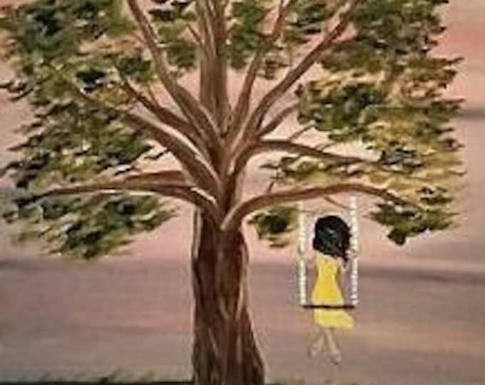 Tree Swing - Oil Painting - Modern