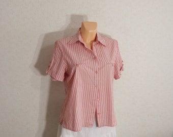 Woman blouse, woman blouse striped shirt