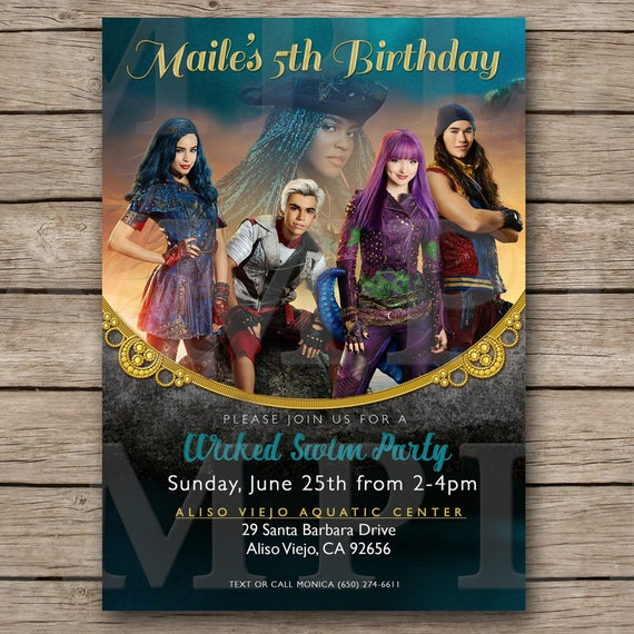 descendants 2 birthday invitation descendants 2 invite