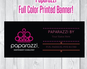 Paparazzi Full Color Printed Vinyl Banner with metal grommets jewelery  Boutique Show Event Clothing Womens Canopy