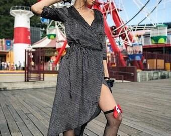 Page Foxy Brown Velvet Wrap Dress