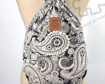 10% OFF [Origi 14.99] Henna graphic design Backpack Canvas drawstring Hip bag Festival backpack Handmade bag