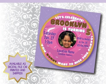 You DONUT want to miss this party!  |  Printable or Printed Donut Theme Party Invitation - With or Without Picture