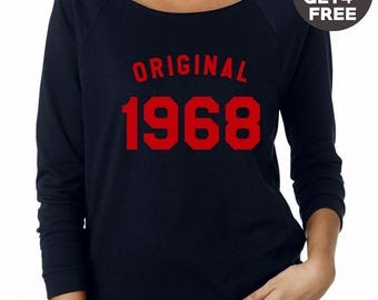 50th birthday sweatshirt 1968 tshirt family gifts mom shirt dad gifts sweatshirt crewneck sweater birthday funny gift tshirt birthday shirt