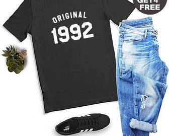 26th Birthday Gifts 1992 Birthday Ideas Shirt Gifts Ladies Tshirt Birthday Gifts Number Shirt Funny Graphic Tee Men Shirt Women Tees Ladies