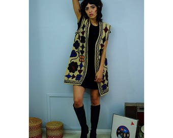 60's embroidered vest