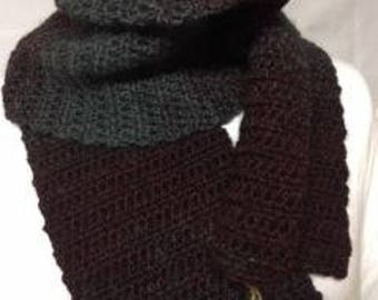 ombre crocheted scarf