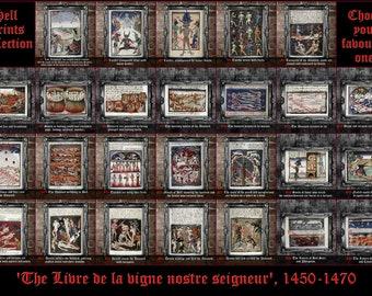 HELL PRINTS COLLECTION; satanic art print, devils poster, medieval art, torture,  angry demons poster, Satan, Lucifer, illustration  #498
