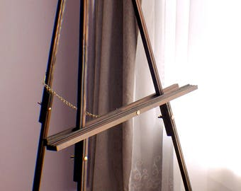 Wedding Sign Easel, Wedding Sign Stand, Floor Easel, Large Wooden Easel, Custom wood easel, Stained wood floor easel