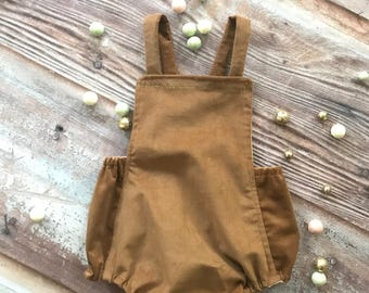 Sweet Country Christmas Brown Vintage Corduroy BOY Prop