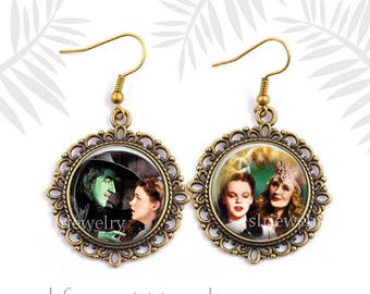 Wizard of Oz, Wizard of Oz Earrings, Wizard of Oz Good Witch, Oz Earrings, Famous Movies, Famous Actresses, Drop earrings, Oz gift