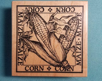 PSX G-1397 - Corn/Maize Square - Rubber Stamp
