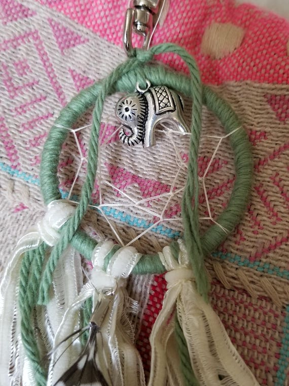 Feather Tribe: Boho Elephant Dream Catcher Accessory Clip