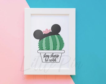 Mickey Ears Cactus,  Digital Download