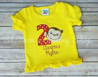 Curious George Birthday Shirt, Monkey Birthday, Curious George Birthday