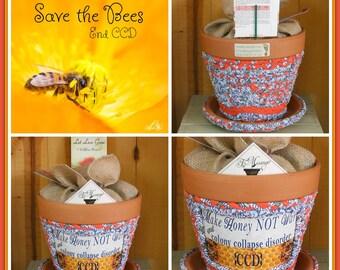 Textile Fabric Pot|Mother Earth Gift|Fabric Pot|Bumble Bee Gift|Textile Planter|Urban Designer Pot|Bee Lover Gift|Bohemian Pot|Messenger Pot