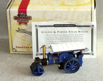 Vintage 1987 Matchbox Diecast Aveling & Porter Steam Roller - Steam Powered Vehicles Collection YAS03-M Models of Yesteryear Boxed with COA