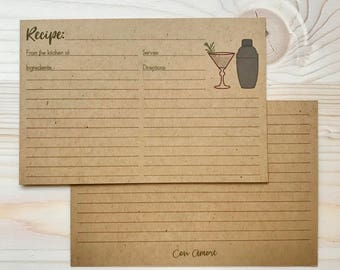 Drink Recipe Card Double-Sided