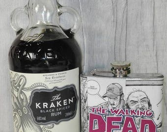 The Walking Dead Comic Hip Flask Custom