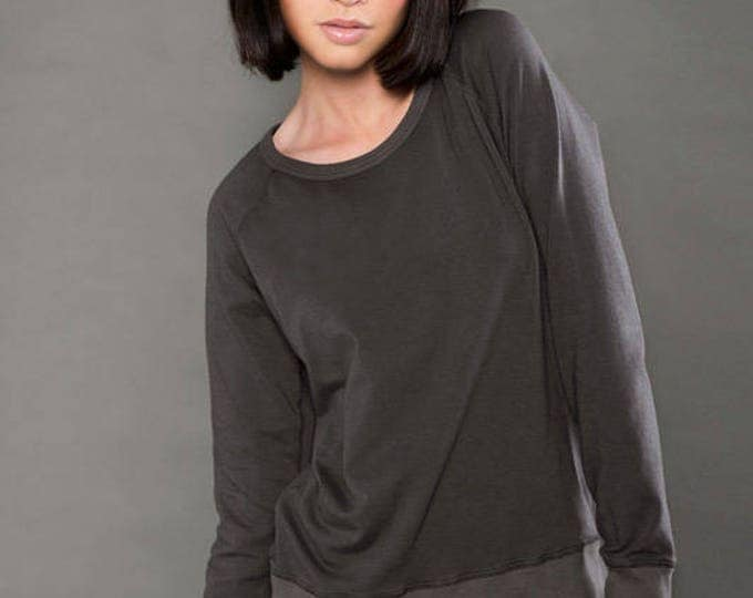 Spandex French Terry Long Sleeve Raglan - Wholesale Only - We will print your chosen design!