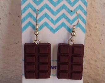 Chocolate earrings