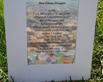 Sea Glass Prayer matted print