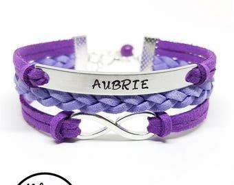 Kids Name Bracelet | Personalized Girls Name Bracelet | Childrens Bracelet | Kids Jewelry | Girls Jewelry | Flower Girl Bracelet