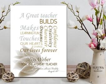 Customised Teacher gift Year end gift for teacher Christmas gift for teacher Printable