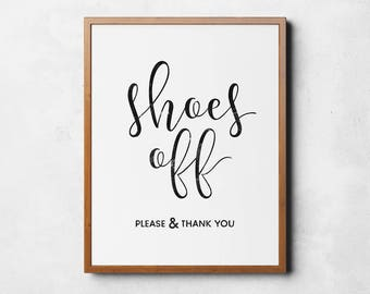 Shoes off sign, Printable poster, Take shoes off please, Remove shoes sign, Entry room art, Instant download, Take off your shoes