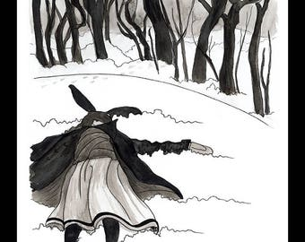 "Art Print *Snow Angel* 8""x10"""