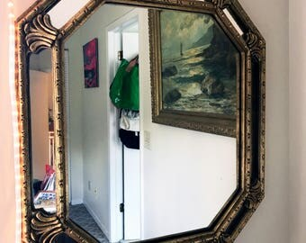Large Vintage Gold Mirror