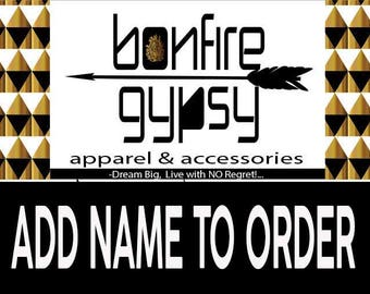 Add Name to order, Choose your font style