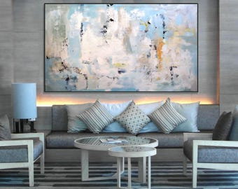 Extra Large Wall Art Original Abstract Acrylic Painting/Modern Art Large  Canvas Art/ Office
