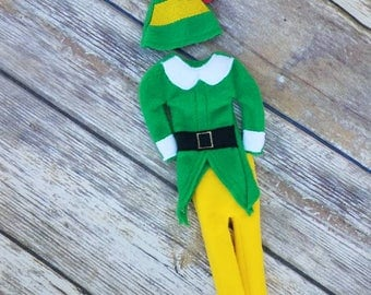 Buddy the elf Christmas elf costume, elf outfit, elf clothes, buddy elf outfit