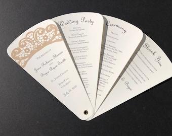 Lace Wedding Petal Fan Program