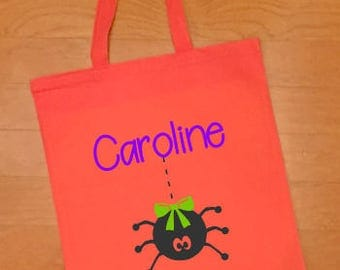 Halloween Bag, Halloween Basket, Trick or Treat Bag, Halloween Treat Bag, Kids Halloween, Personalized Halloween Bag