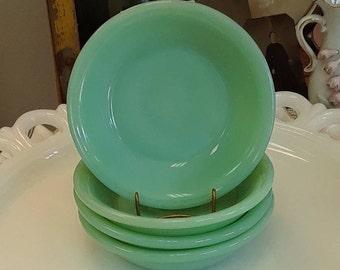 "Vintage Fire King Restaurant Style Jadeite 4 3/4"" Small Fruit/Dessert Bowl!"