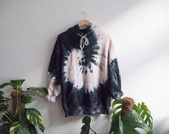 Black Tie Dye Hoodie, indie, grunge, tumblr